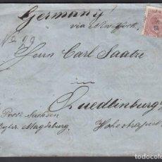 Sellos: CARTA CIRCULADA DE LA HABANA - HAMBURGO. ALEMANIA, 16 NOV. 1894. Lote 187456896