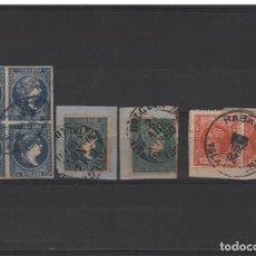 Sellos: ANTILLAS.CUBA PEQUEÑO LOTE CON BONITOS MATASELLOS. Lote 187638042