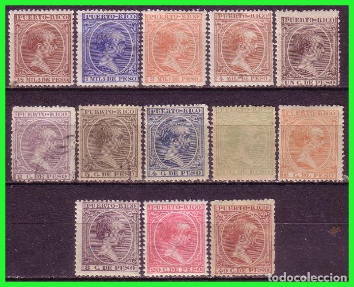 PUERTO RICO, 1894 ALFONSO XIII, EDIFIL Nº 102 A 114 * * / *, 107 Y 108 (O) (Sellos - España - Colonias Españolas y Dependencias - América - Puerto Rico)