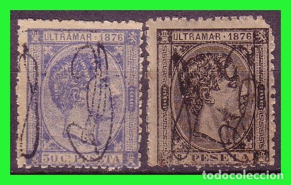 PUERTO RICO, 1876 ALFONSO XII, EDIFIL Nº 9 Y 10 * (Sellos - España - Colonias Españolas y Dependencias - América - Puerto Rico)