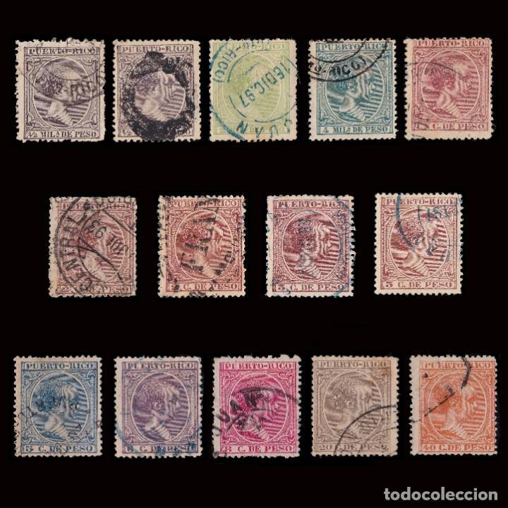 PUERTO RICO.1894.ALFONSO XIII.14 VALORES. USADO. (Sellos - España - Colonias Españolas y Dependencias - América - Puerto Rico)