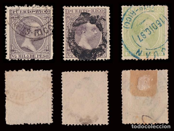 Sellos: Puerto Rico.1894.Alfonso XIII.14 valores. Usado. - Foto 2 - 189984297