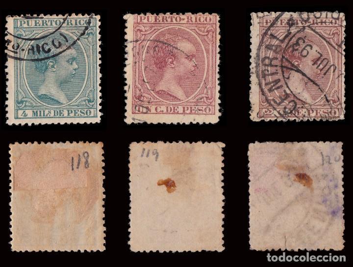 Sellos: Puerto Rico.1894.Alfonso XIII.14 valores. Usado. - Foto 3 - 189984297