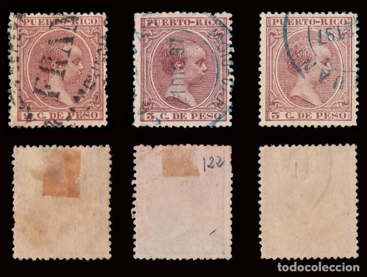 Sellos: Puerto Rico.1894.Alfonso XIII.14 valores. Usado. - Foto 4 - 189984297