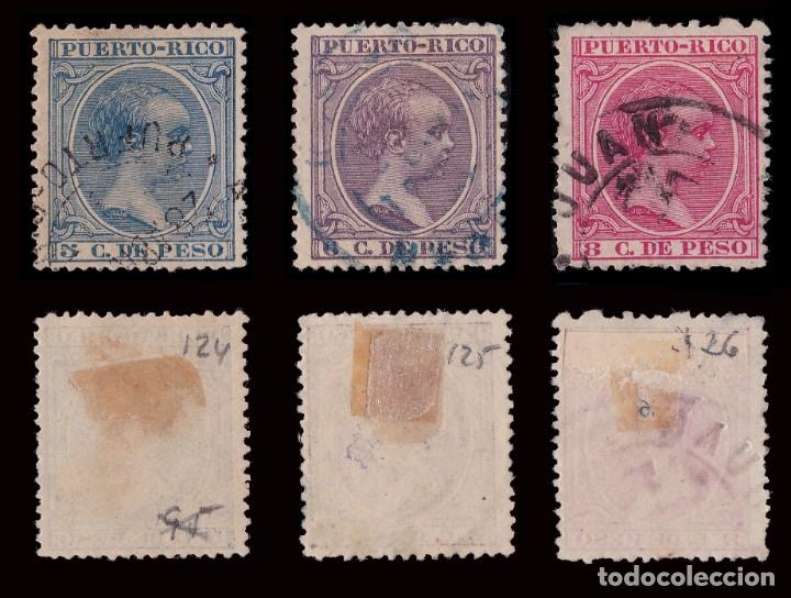 Sellos: Puerto Rico.1894.Alfonso XIII.14 valores. Usado. - Foto 5 - 189984297