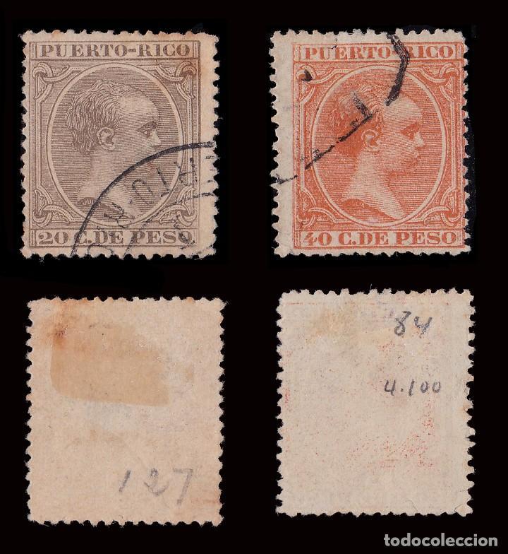 Sellos: Puerto Rico.1894.Alfonso XIII.14 valores. Usado. - Foto 6 - 189984297