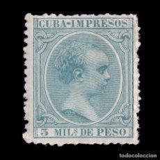 Francobolli: CUBA.1896-97. ALFONSO XIII.3M.MN. EDIFIL.143. Lote 190613287