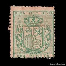 Sellos: CUBA TELÉGRAFOS 1878.ESCUDO ESPAÑA.2P.MNG. EDIFIL 43. Lote 191165921