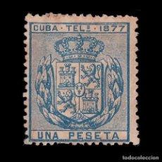 Sellos: CUBA TELÉGRAFOS.1877. ESCUDO ESPAÑA.1P.MNG. EDIFIL 38. Lote 191167015