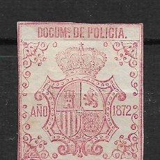 Sellos: ESPAÑA - CUBA POLICIA 1872 ** - 15/27. Lote 191648435