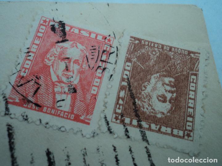 Sellos: sobre lacrado,años 50, con sellos de brasil, - Foto 2 - 193059018