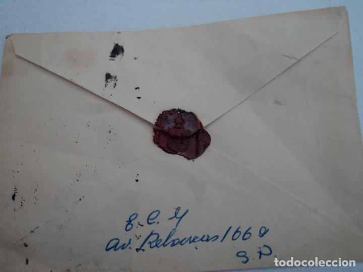 Sellos: sobre lacrado,años 50, con sellos de brasil, - Foto 3 - 193059018