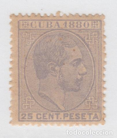 Sellos: 1880-41 CUBA ESPAÑA SPAIN. ANTILLAS. ALFONSO XII. 1880. Ed.59a. 25c. GRIS. MNH. - Foto 2 - 193911481