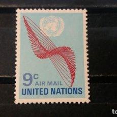 Sellos: SELLO NUEVO. NACIONES UNIDAS OFICINA N. YORK. CORREO AEREO. 1 MAYO 1972. YVERT PA15.. Lote 194197237