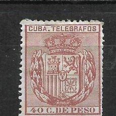 Sellos: ESPAÑA CUBA TELEGRAFOS 1894 EDIFIL 80 * - 2/9. Lote 195004612
