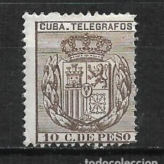 Sellos: ESPAÑA CUBA TELEGRAFOS 1894 EDIFIL 78 * - 2/9. Lote 195004696