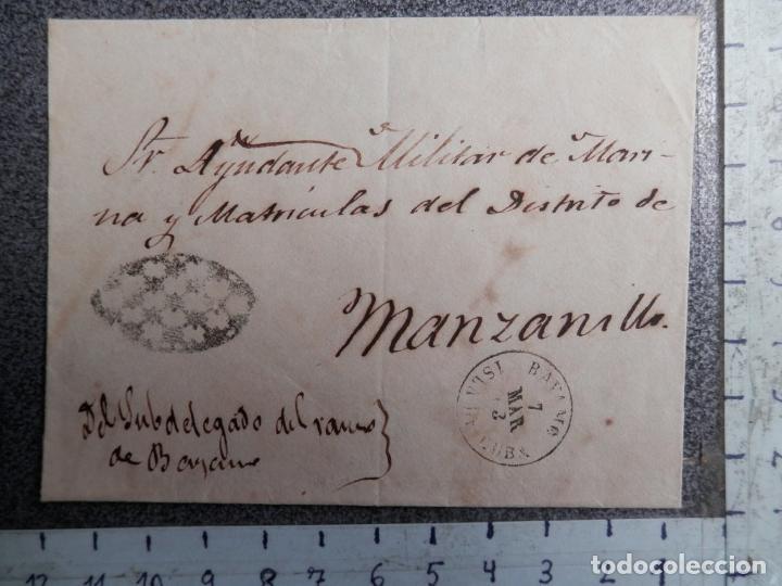 CUBA FECHADORES BAYAMO Y MANZANILLO AÑO 1863 RARA MARCA PARRILLA CON ESTRELLAS (Sellos - España - Colonias Españolas y Dependencias - América - Cuba)