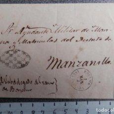 Sellos: CUBA FECHADORES BAYAMO Y MANZANILLO AÑO 1863 RARA MARCA PARRILLA CON ESTRELLAS. Lote 196017437