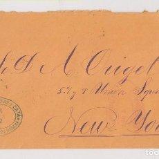 Sellos: SOBRE. HABANA, CUBA. A NUEVA YORK. 1882. Lote 197220192