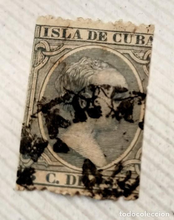 SELLO ISLA DE CUBA 1891/92 ALFONSO XIII 5 CENTAVOS VERDE Nº 127 (Sellos - España - Colonias Españolas y Dependencias - América - Cuba)