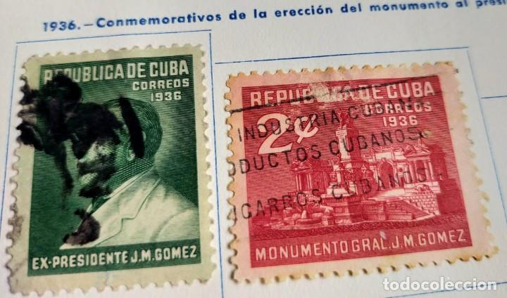 2 SELLOS REPÚBLICA DE CUBA 1936 CONMEMORATIVOS DEL MONUMENTO AL PRESIDENTE J.M. GÓMEZ DE 1 Y 2 CENTA (Sellos - España - Colonias Españolas y Dependencias - América - Cuba)