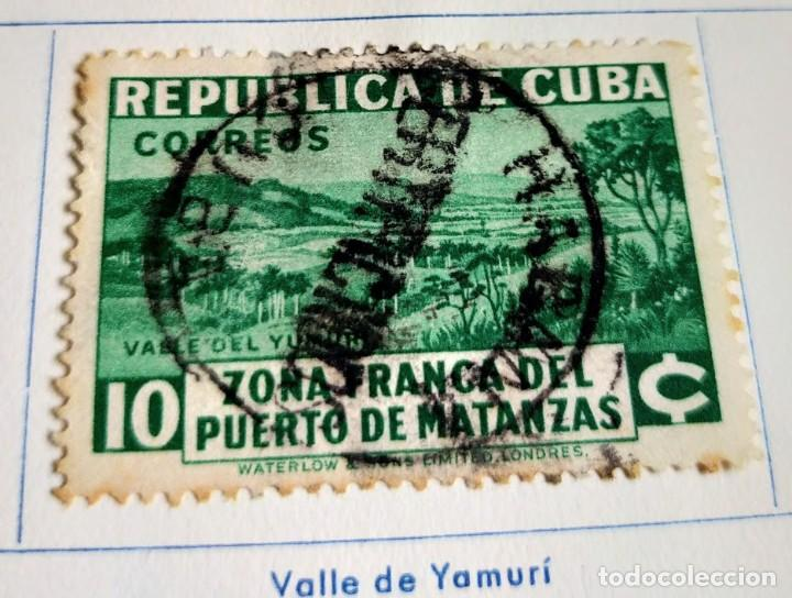 SELLO REP. DE CUBA 1936- ESTABLECIMIENTO DE LA ZONA FRANCA DEL PUERTO DE MATANZAS - VALLE YUMAMI (Sellos - España - Colonias Españolas y Dependencias - América - Cuba)