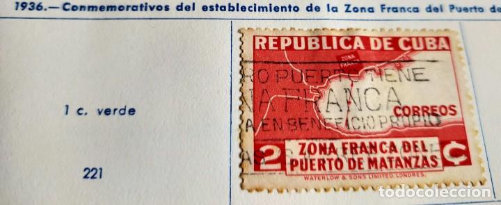 SELLO REP. DE CUBA 1936 ESTABLECIMIENTO DE LA ZONA FRANCA DEL PUERTO DE MATANZAS – PLANO 2 CENTAVOS (Sellos - España - Colonias Españolas y Dependencias - América - Cuba)