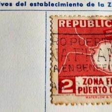 Sellos: SELLO REP. DE CUBA 1936 ESTABLECIMIENTO DE LA ZONA FRANCA DEL PUERTO DE MATANZAS – PLANO 2 CENTAVOS. Lote 198227866