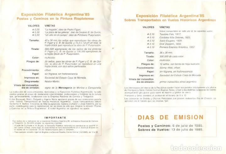 Sellos: EXPOSICION FILATELICA ARGENTINA 1985 - Foto 3 - 198933375