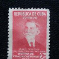 Sellos: SELLO CUBA, 2 C, ISMAEL CESPEDES, AÑO 1951. Lote 198948445