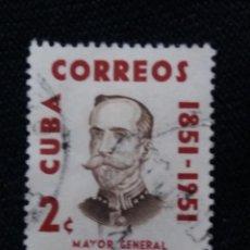 Sellos: SELLO CUBA, 2 C, MAYOR GENERAL RODRIGUEZ AÑO 1954. Lote 198948632