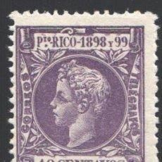 Sellos: PUERTO RICO, 1898 EDIFIL Nº 145 /*/, . Lote 199076726