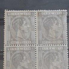 Sellos: CUBA , EDIFIL 54 , BLOQUE 4, YVERT 32, 1879. Lote 199191103