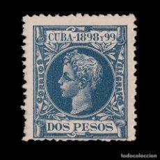 Timbres: CUBA.1898. ALFONSO XIII.2 PESOS.AZUL OSCURO.NUEVO**.EDIFIL.173. Lote 199354081