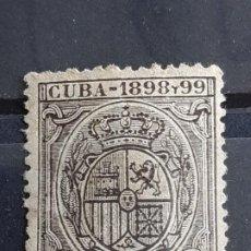Selos: CUBA , FISCALES, 4 C. DE PESO, 1898-99. Lote 199483628