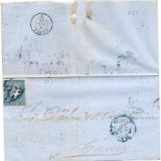 Sellos: CUBA.CARTA AÑO 1858.. Lote 199935721