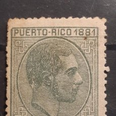 Sellos: PUERTO RICO , EDIFIL 48 (*) PUNTO DE AGUJA, YVERT 48, 1881. Lote 218553111