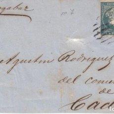 Sellos: FRONTAL CON PAREJA DE SELLOS DE LAS ANTILLAS NUM. 7 MATASELLOS LA HABANA -1861 ---VAPOR ALMOGAVAR . Lote 200766435