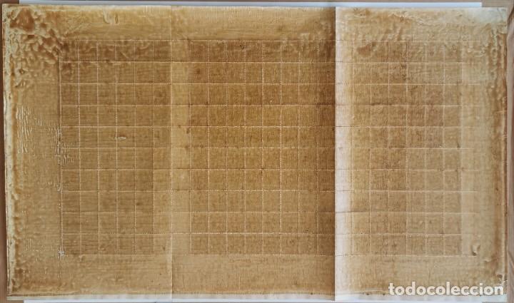Sellos: PLANCHA CON 100 SELLOS 1 CENTAVOS DE PESO 1890 - ISLA DE CUBA - ALFONSO XIII - EDIFIL 112 - RARÍSIMA - Foto 15 - 203439216