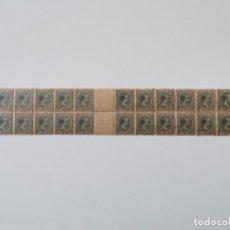 Sellos: PLANCHA CON 28 SELLOS 5 CENTAVOS DE PESO 1890 ISLA DE CUBA ALFONSO XIII - PLANCHA RARÍSIMA. Lote 203440598