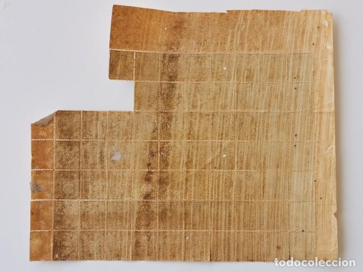 Sellos: PLANCHA CON 65 SELLOS UNA PESETA 1890 - TELÉGRAFOS - ISLA DE CUBA - PLANCHA RARÍSIMA - Foto 8 - 203440918