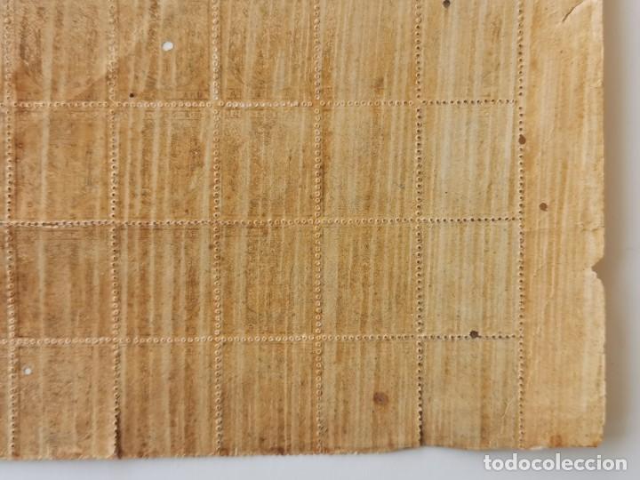 Sellos: PLANCHA CON 65 SELLOS UNA PESETA 1890 - TELÉGRAFOS - ISLA DE CUBA - PLANCHA RARÍSIMA - Foto 9 - 203440918