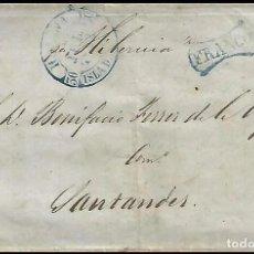 Sellos: CARTA 1852 HABANA-SANTANDER POR HIBERNIA. Lote 204521485