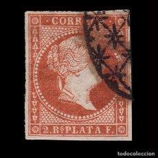 Sellos: ANTILLAS.1857 ISABEL II.2 R. ROJO .USADO. EDIFIL.9. Lote 205121916