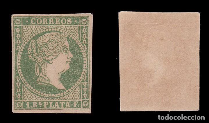 Sellos: ANTILLAS.1857 Isabel II.1 r. verde .Nuevo(*)MNG. Edifil.8 - Foto 2 - 205126977