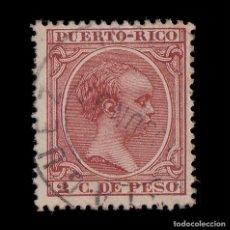 Sellos: PUERTO RICO.18791-92.ALFONSO XIII.2C.USADO MAYAGÜEZ. EDIFIL 93. Lote 205206648