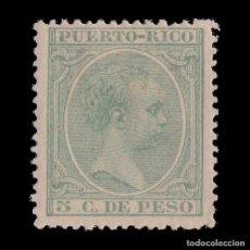 Sellos: PUERTO RICO.18791-92. ALFONSO XIII.5C.NUEVO*.EDIFIL 95. Lote 205207013