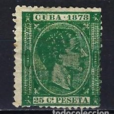 Sellos: 1878 ESPAÑA - COLONIAS - CUBA EDIFIL 47 ALFONSO XII MH* NUEVO CON FIJASELLOS. Lote 206139012