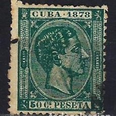 Sellos: 1878 ESPAÑA - COLONIAS - CUBA EDIFIL 48 ALFONSO XII USADO - DEFECTO LATERAL IZQ.. Lote 206139066