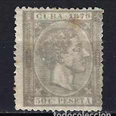 Sellos: 1879 ESPAÑA - COLONIAS - CUBA EDIFIL 54 ALFONSO XII MH* NUEVO CON FIJASELLOS - ÓXIDO. Lote 206139246